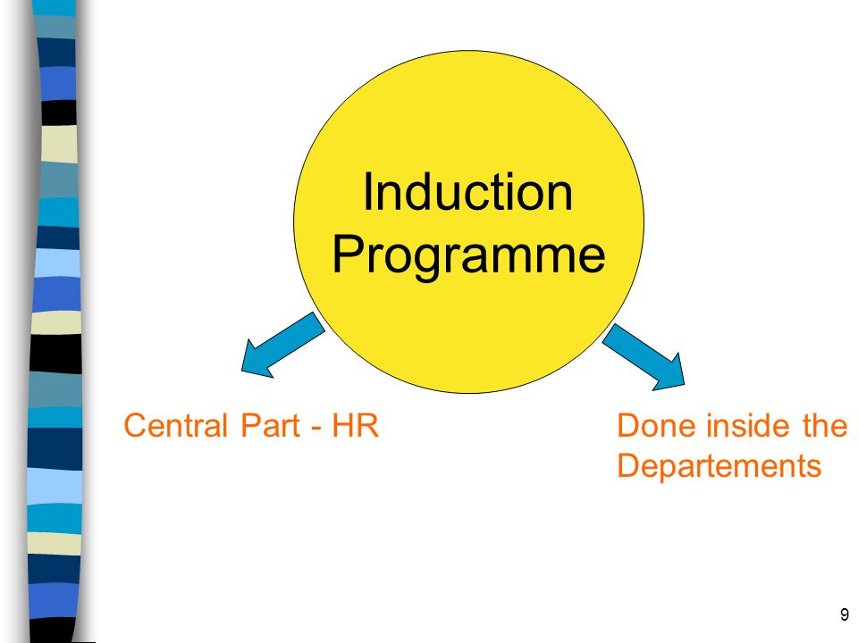9 Induction Programme Central Part - HRDone inside the Departements