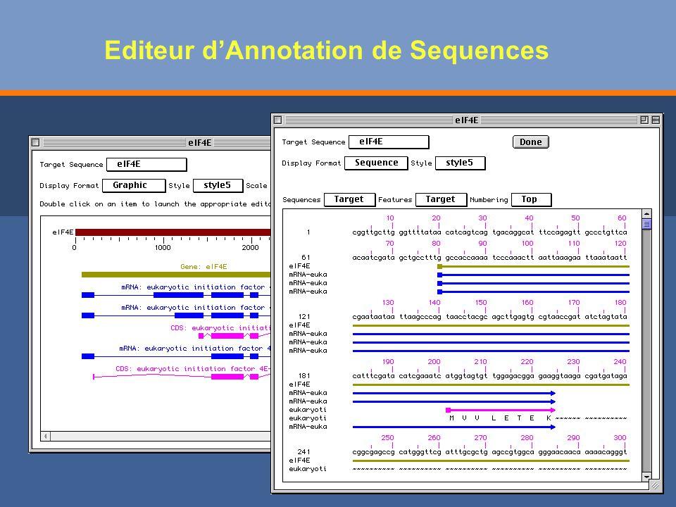 Editeur dAnnotation de Sequences