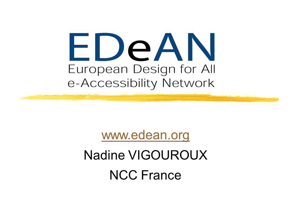 www.edean.org Nadine VIGOUROUX NCC France