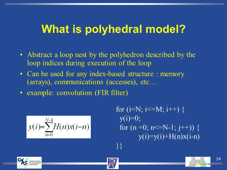39 What is polyhedral model.