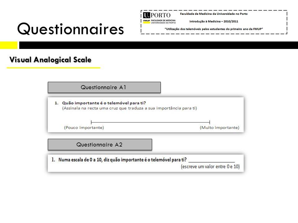 Questionnaires (9) Questionnaire A2 Questionnaire A1