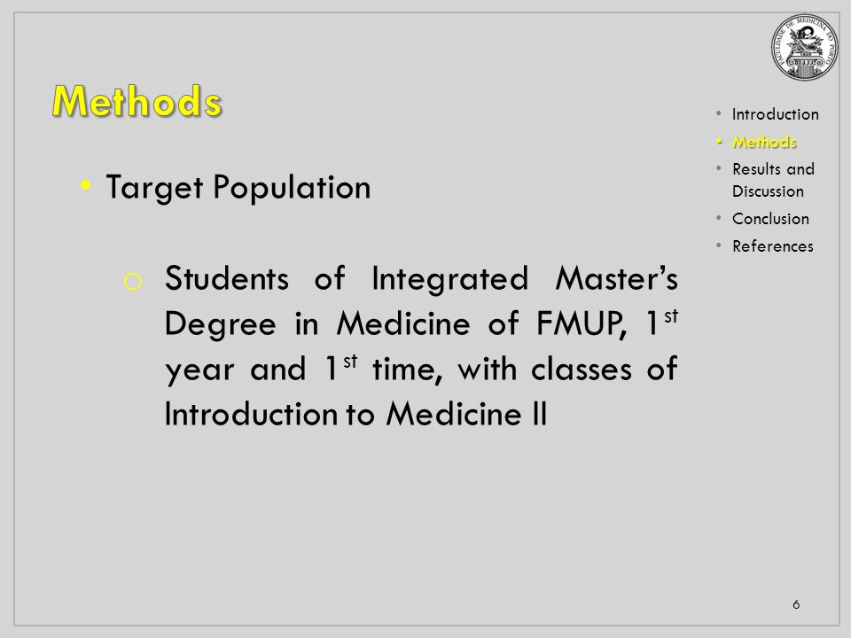 Introduction Methods Methods Results and Discussion Conclusion References 7