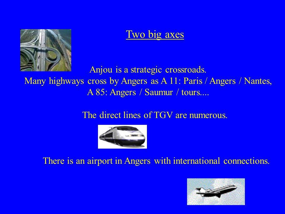 Two big axes Anjou is a strategic crossroads.