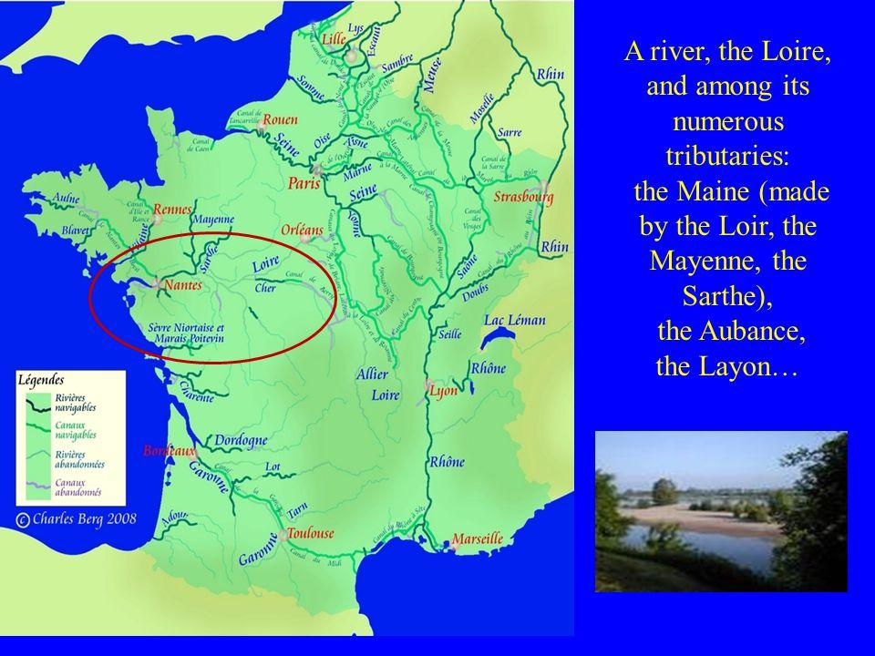 The territories : Anjou includes a part of the Mayenne, Indre-et-Loire, Deux-Sèvres and Vienne.