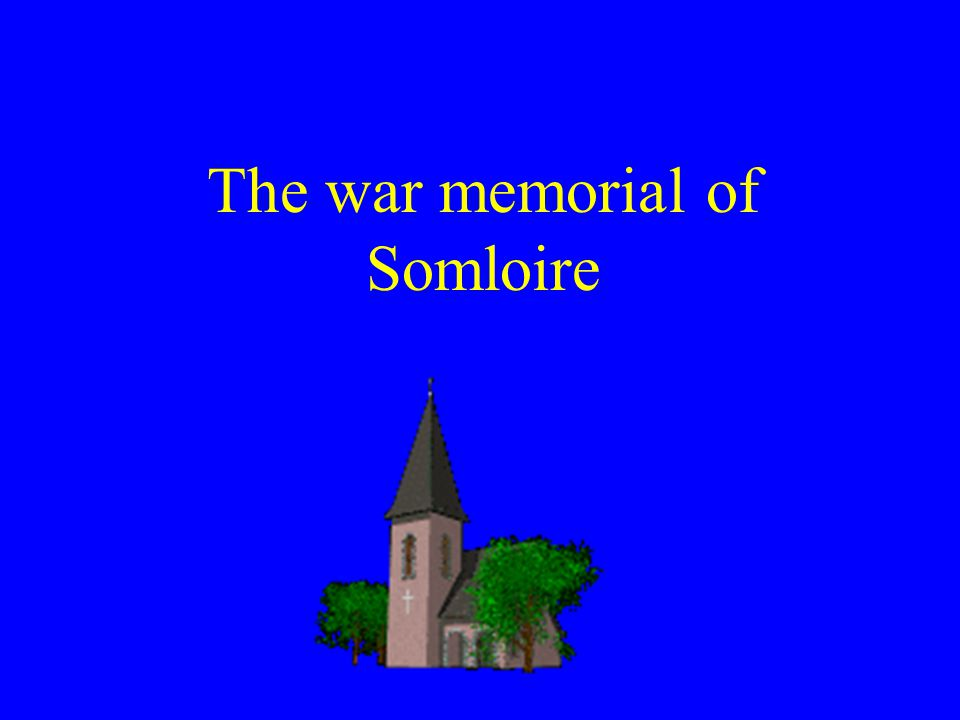 The war memorial of Somloire