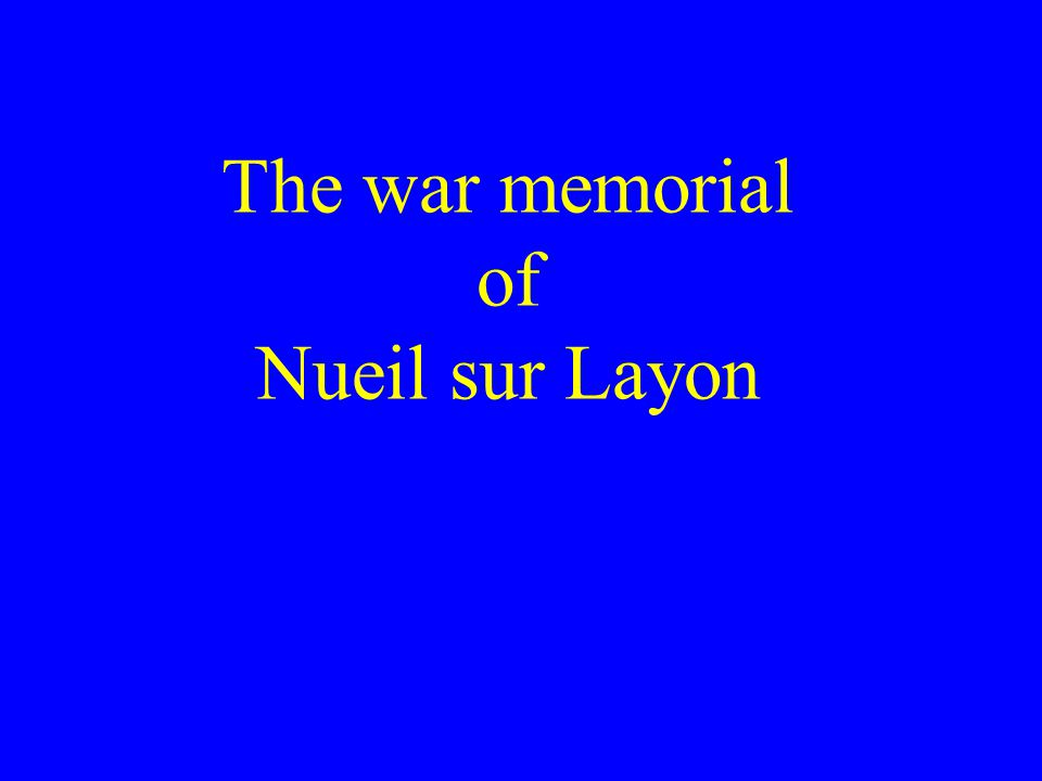 The war memorial of Nueil sur Layon