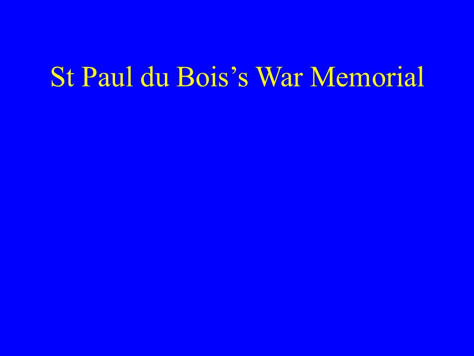 St Paul du Boiss War Memorial