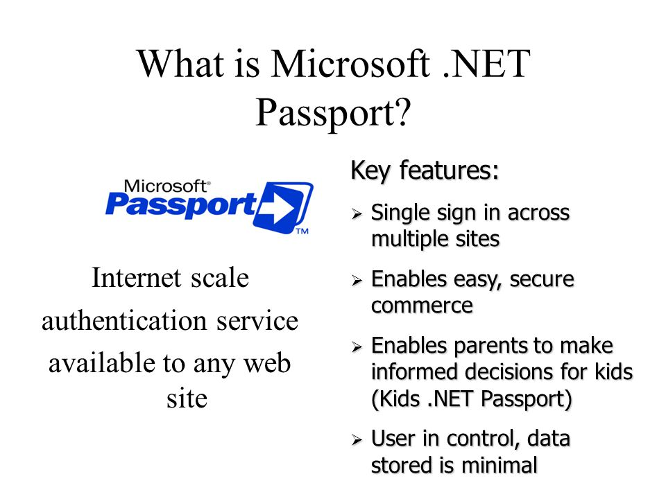 What is Microsoft.NET Passport.
