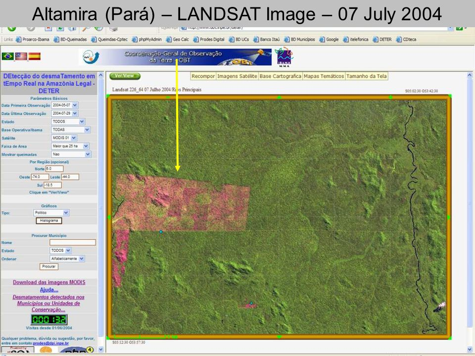 Altamira (Pará) – LANDSAT Image – 07 July 2004