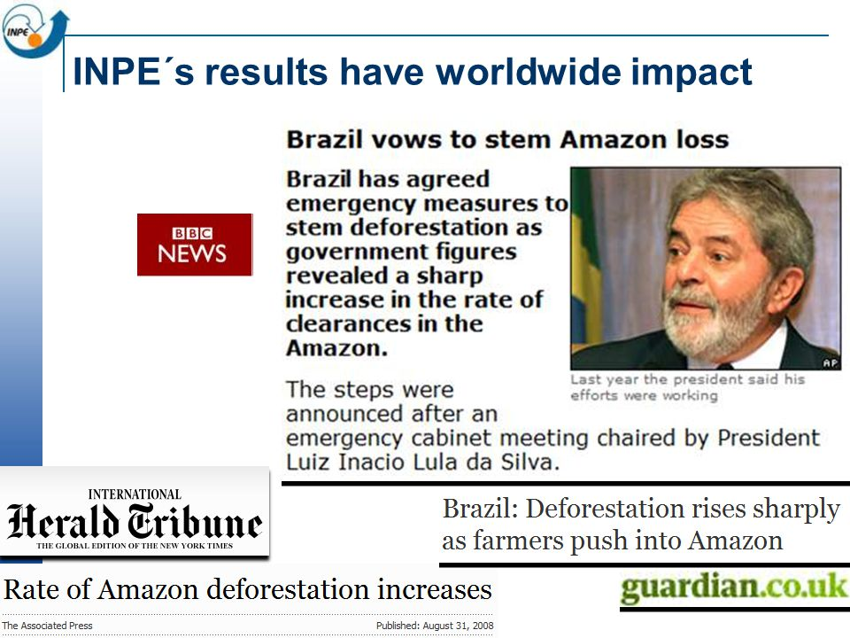 INPE´s results have worldwide impact