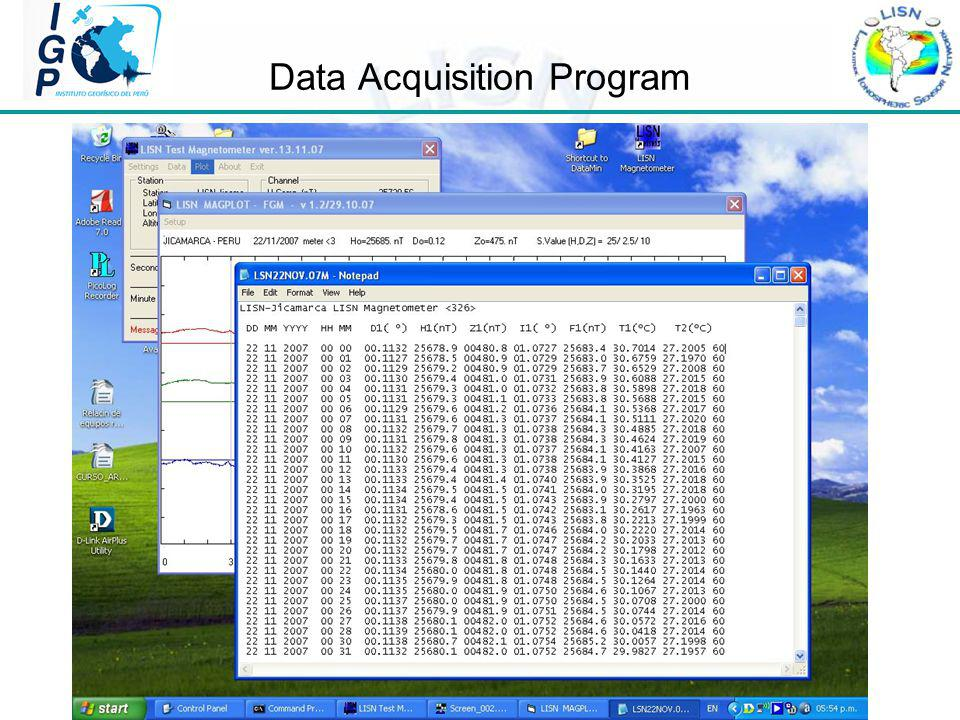 Data Acquisition Program