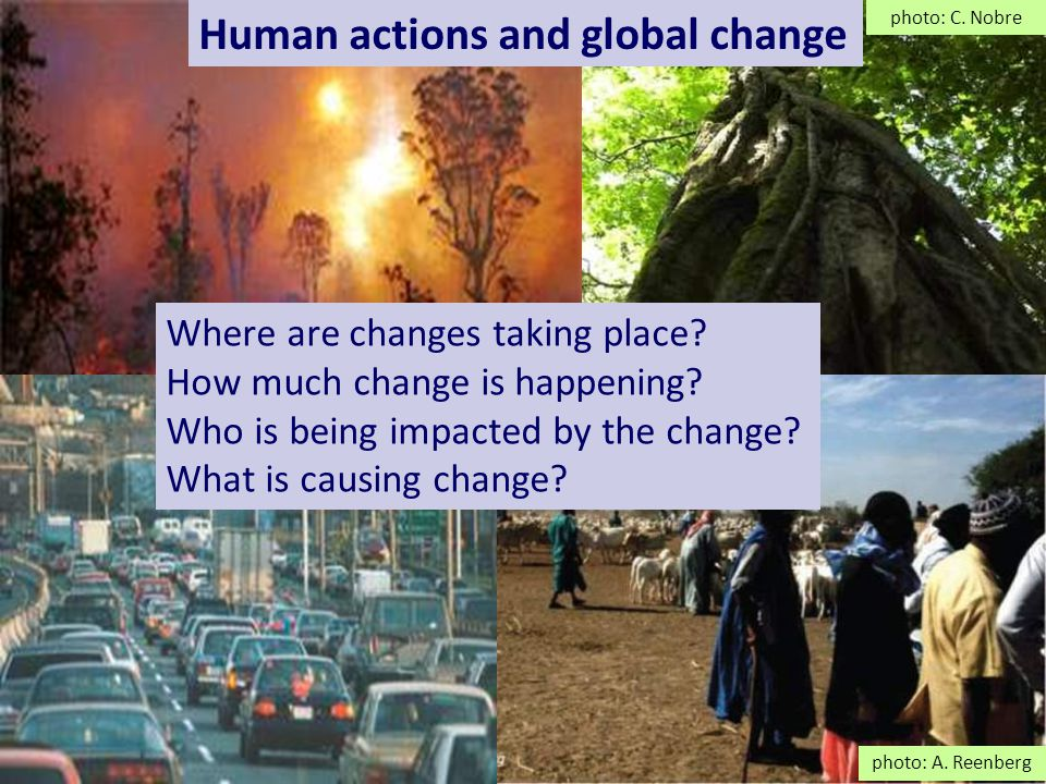 Impacts of global land change More vulnerable communities are those most at risk