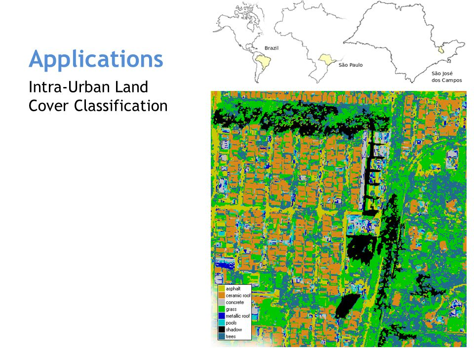 Applications Deforestation changes in the Amazon Forest