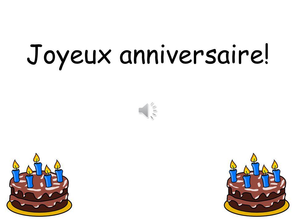 Cest mon anniversaire