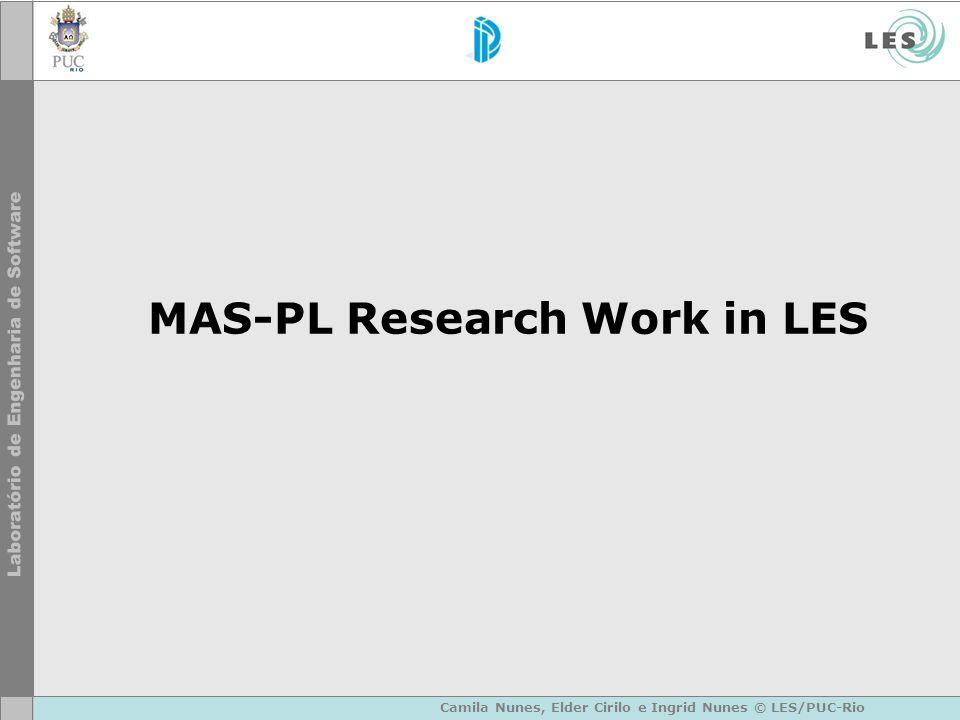 MAS-PL Research Work in LES Camila Nunes, Elder Cirilo e Ingrid Nunes © LES/PUC-Rio