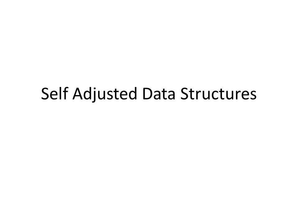 Self Adjusted Data Structures