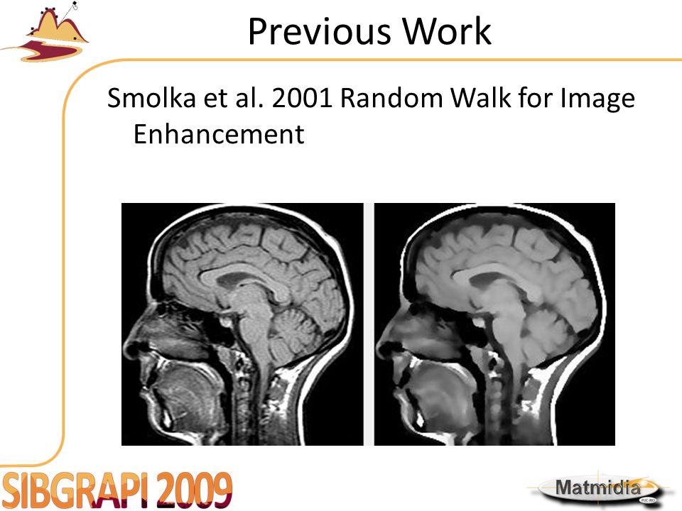 Previous Work Smolka et al. 2001 Random Walk for Image Enhancement