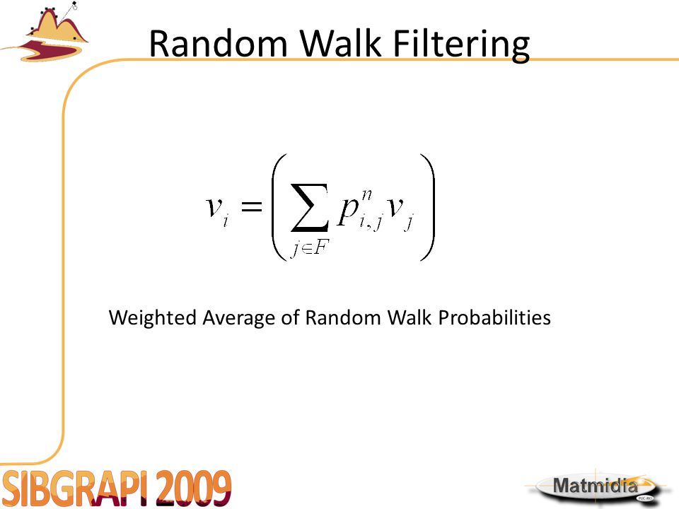 Random Walk Filtering Weighted Average of Random Walk Probabilities