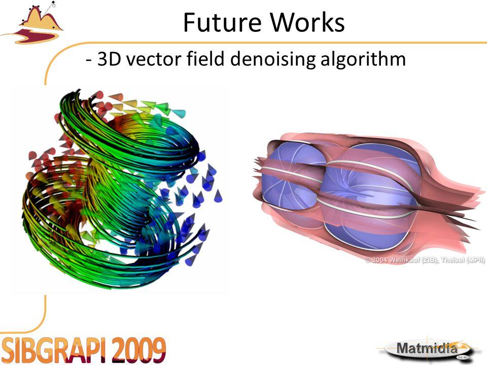 Future Works - 3D vector field denoising algorithm