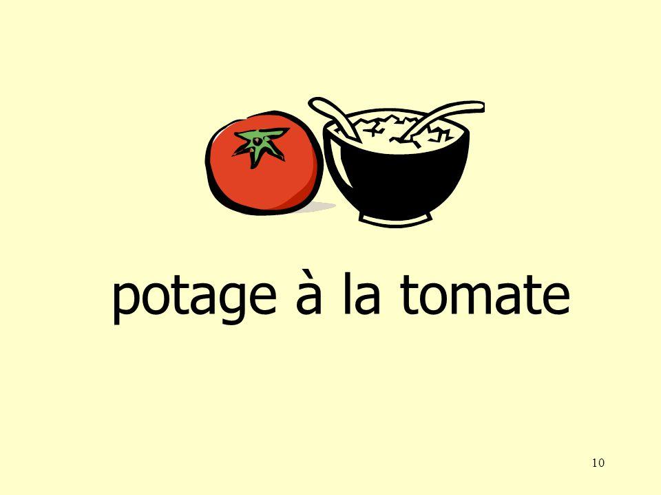 9 potage à la tomatepotage aux champignons