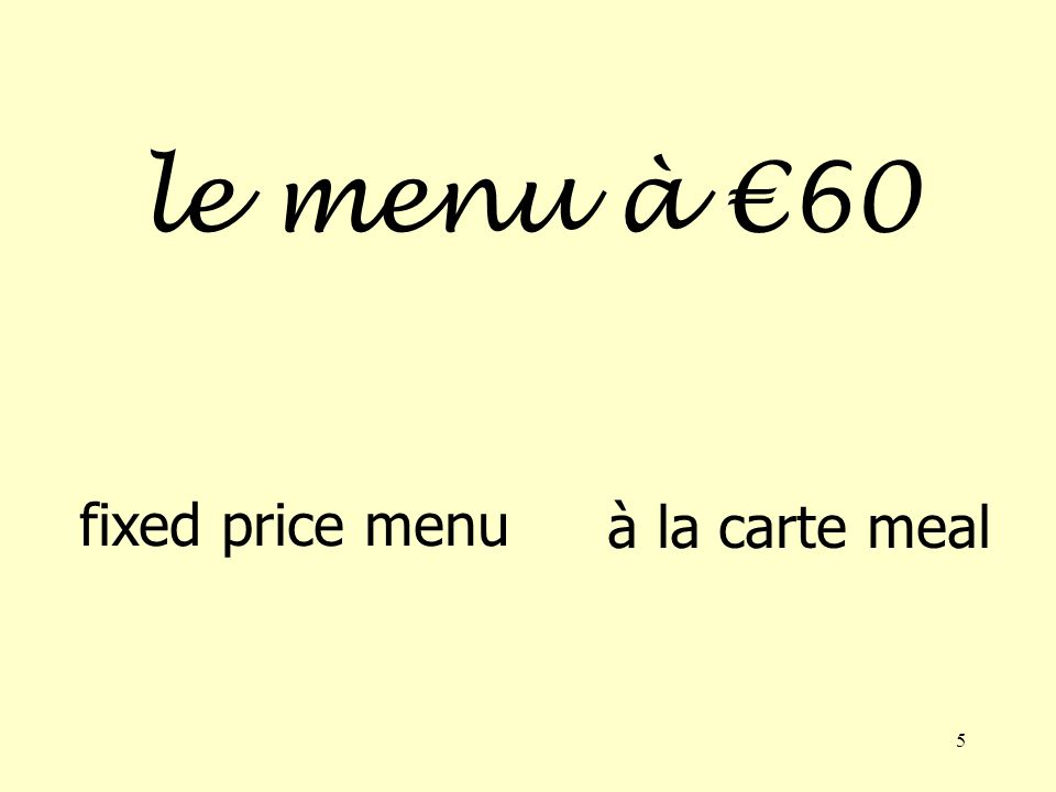 4 le menu the menu the bill