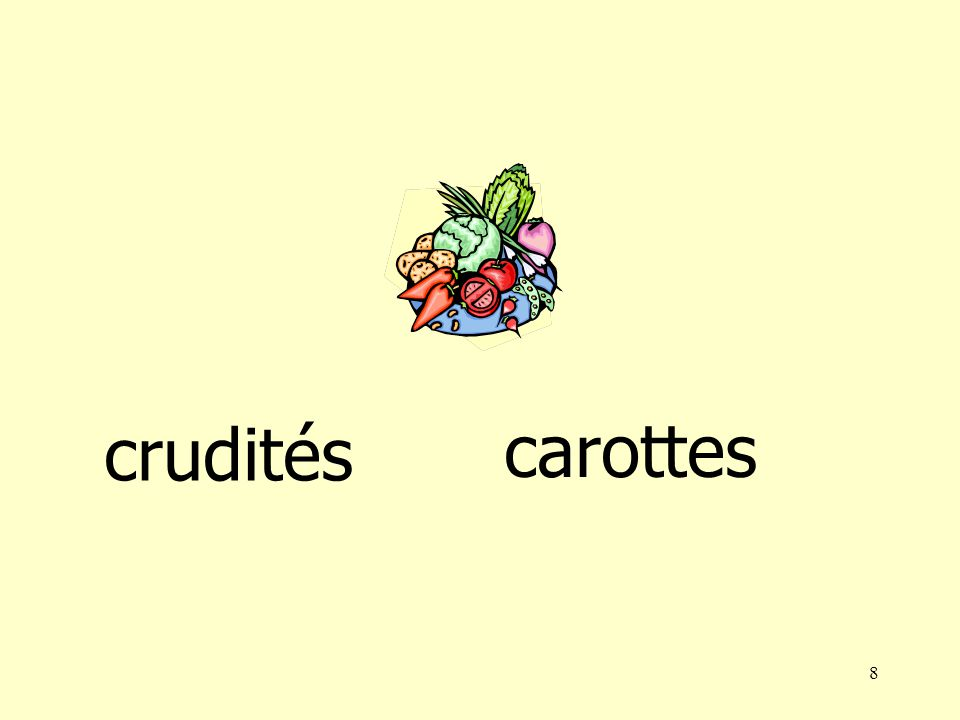 7 melon crudités