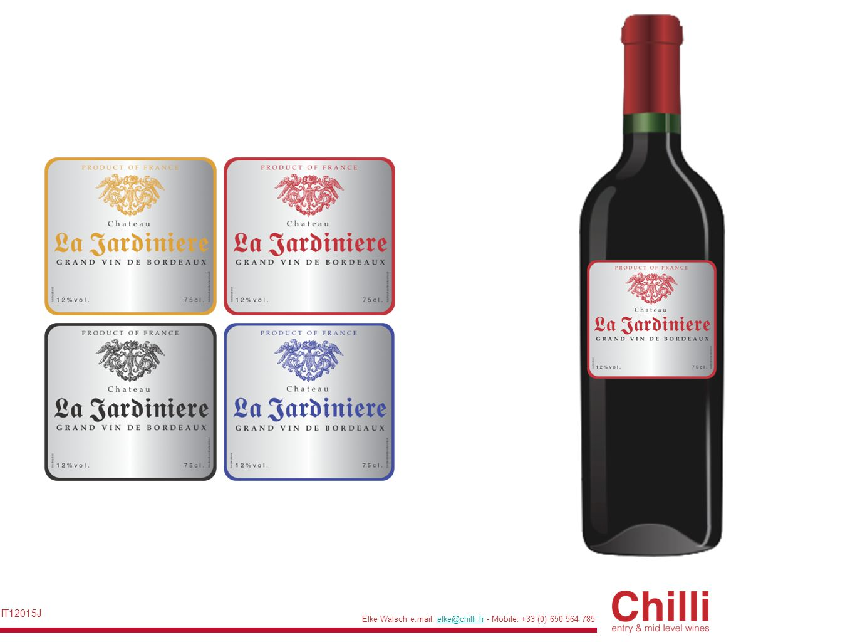 Elke Walsch e.mail: elke@chilli.fr - Mobile: +33 (0) 650 564 785elke@chilli.fr IT12015J