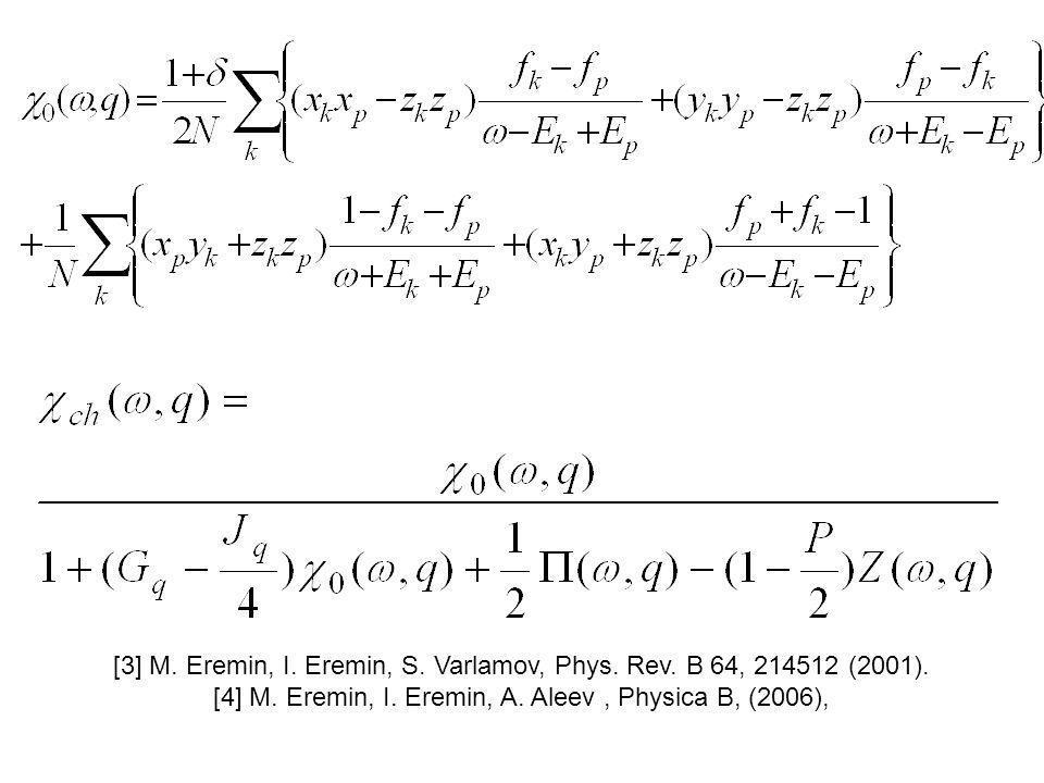 [3] M. Eremin, I. Eremin, S. Varlamov, Phys. Rev.