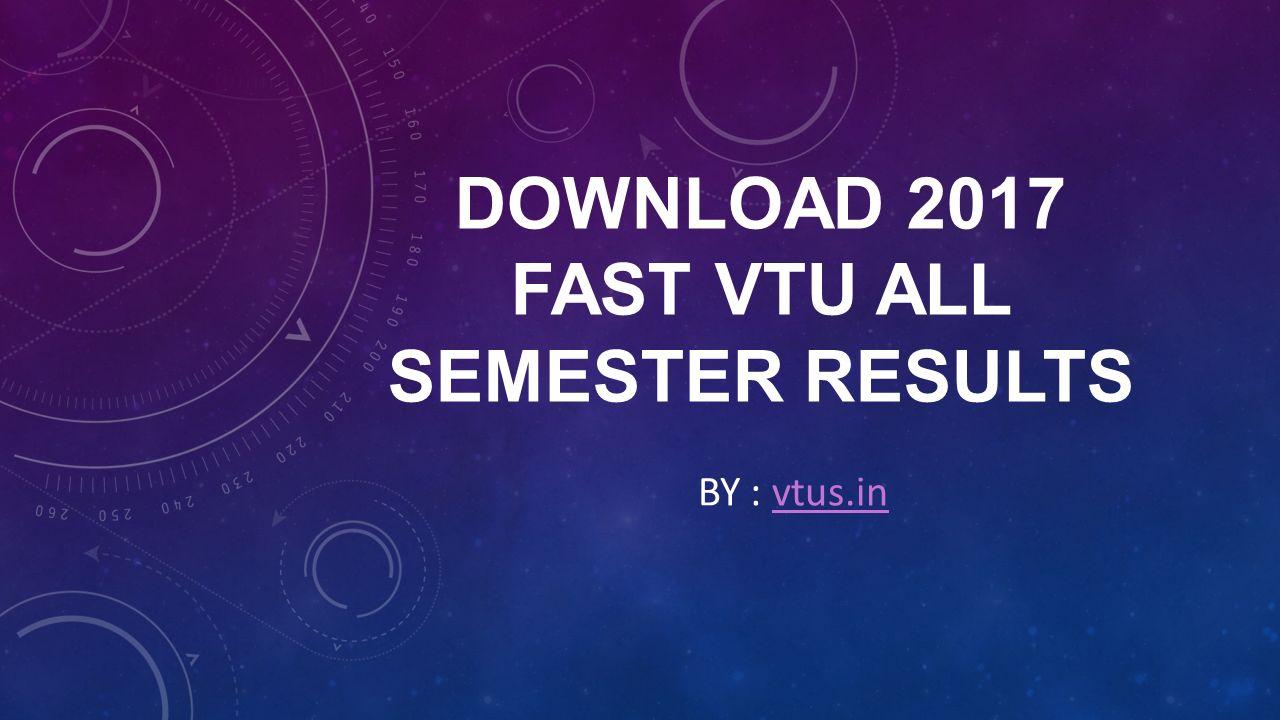 fast vtu results 2017
