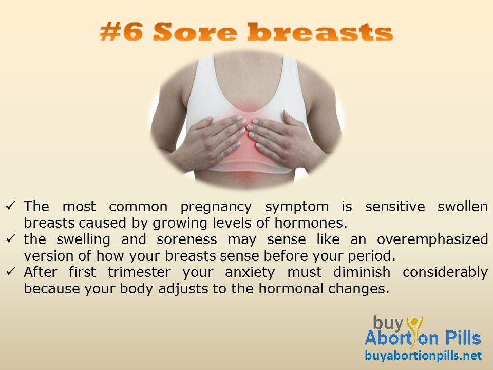 breast pregnant swollen