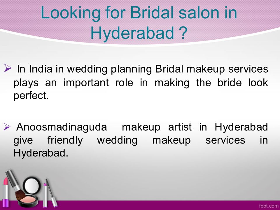 Looking for Bridal salon in Hyderabad .