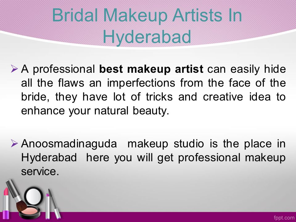 Bridal Makeup Artists In Hyderabad AA professional best makeup artist can easily hide all the flaws an imperfections from the face of the bride, they have lot of tricks and creative idea to enhance your natural beauty.