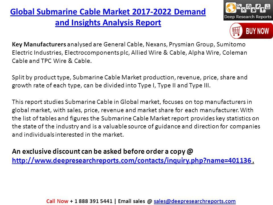 Global Submarine Cable Market Demand and Insights Analysis Report ...