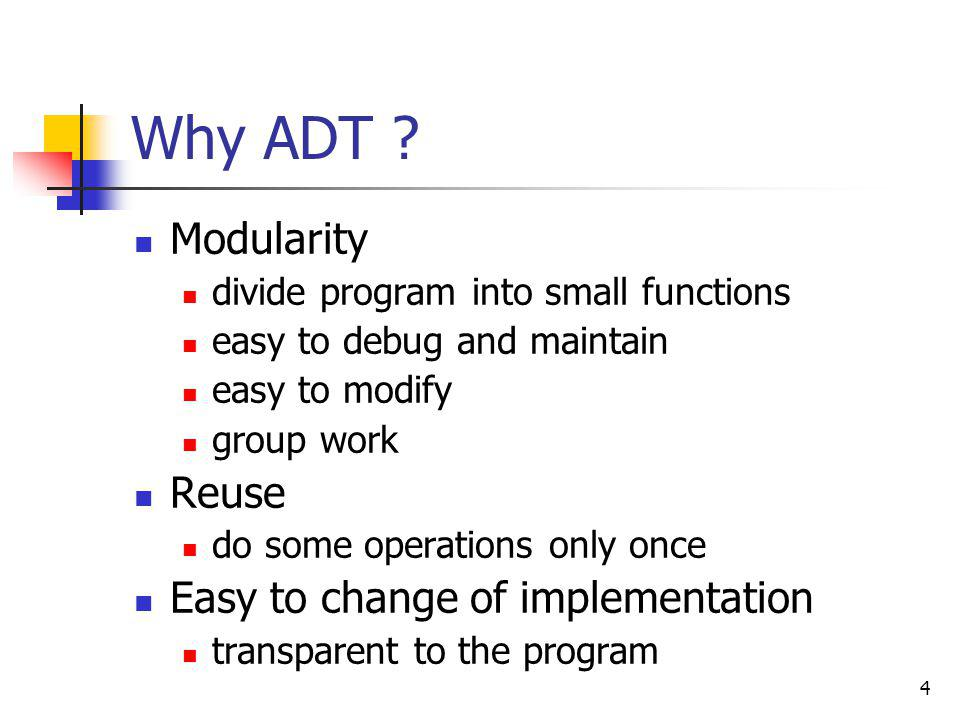 5 THE LIST ADT Ordered sequence of data items called elements A 1, A 2, A 3, …,A N is a list of size N size of an empty list is 0 A i+1 succeeds A i A i-1 preceeds A i position of A i is i first element is A 1 called head last element is A N called tail Operations ?