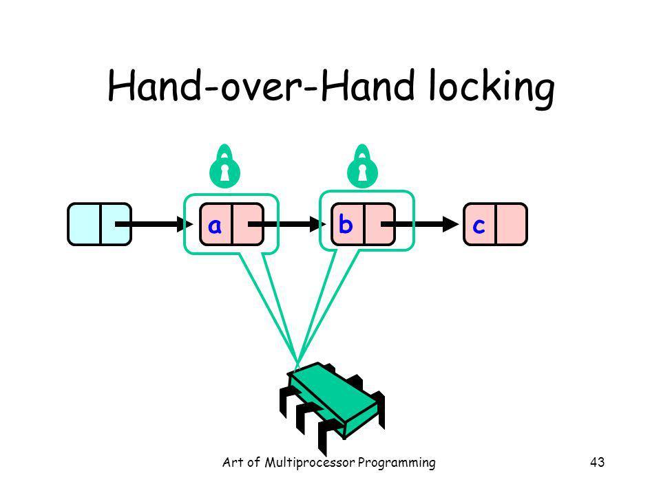 Art of Multiprocessor Programming43 Hand-over-Hand locking abc