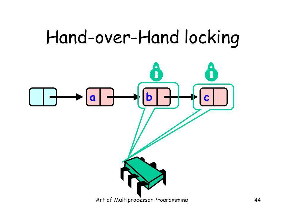 Art of Multiprocessor Programming44 Hand-over-Hand locking abc