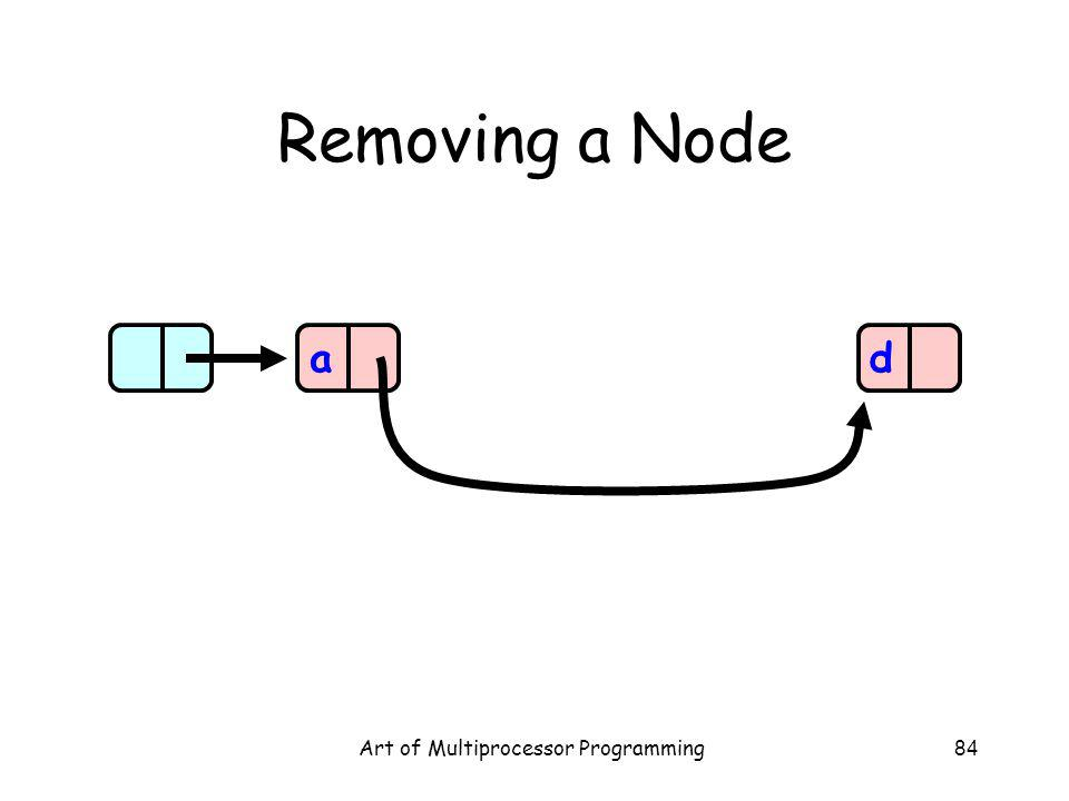 Art of Multiprocessor Programming84 Removing a Node ad