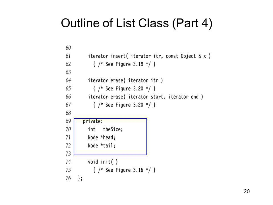 20 Outline of List Class (Part 4)