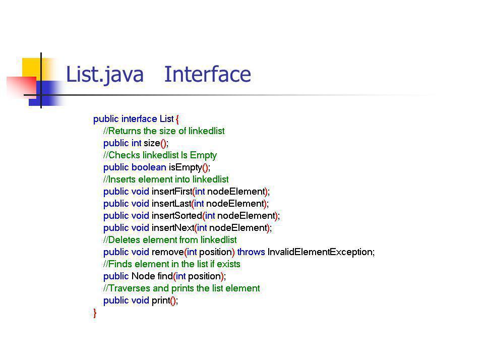 List.java Interface