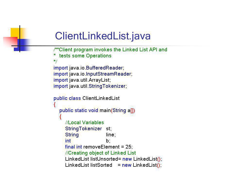 ClientLinkedList.java