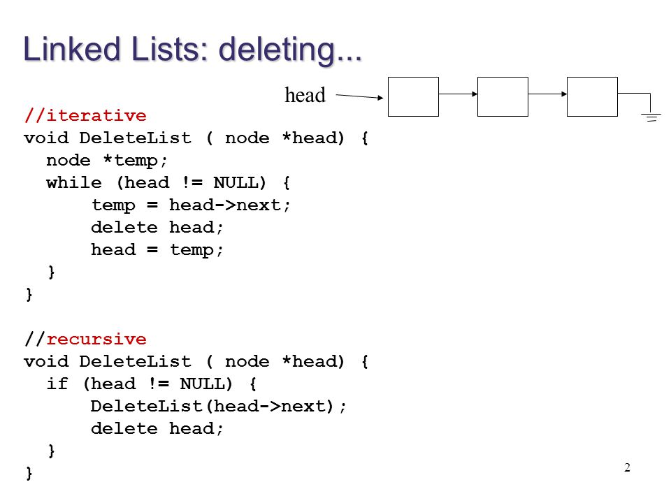Doubly linked lists Each node does not only keep a pointer for the next node, but also for the previous node.