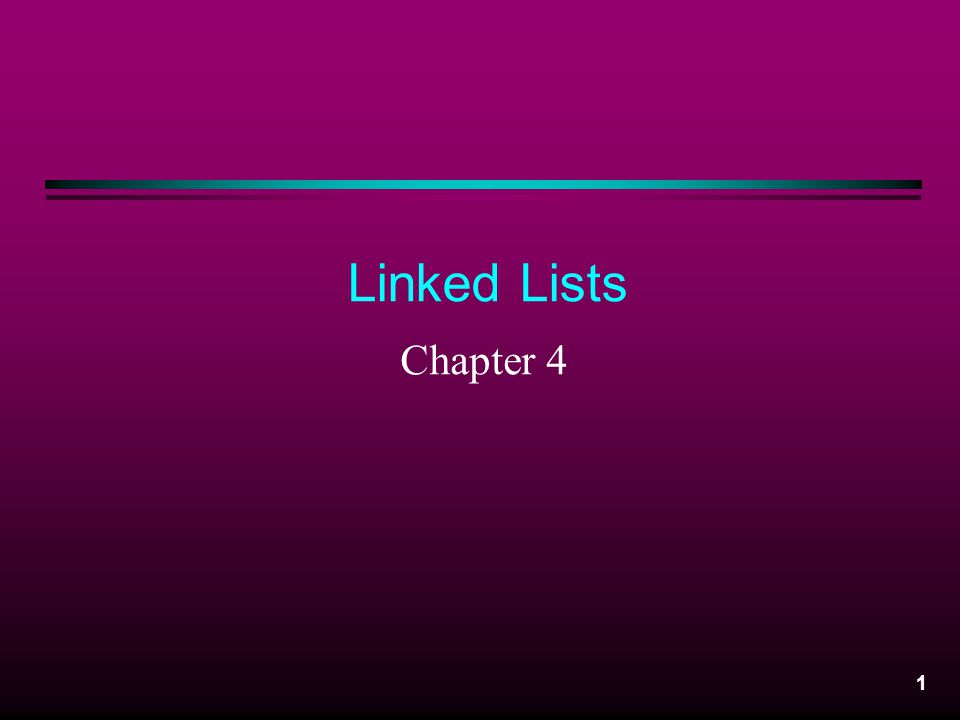 2 Linked List : Definition Linked List: – A collection of data items of the same type that are stored in separate objects referred to as nodes .