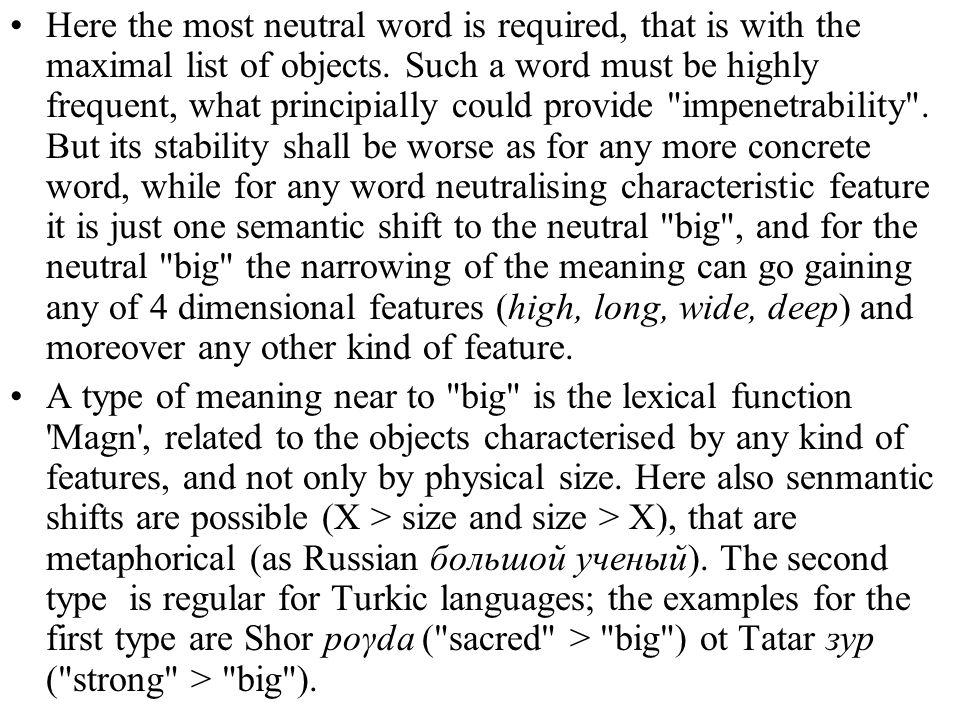 Here the most neutral word is required, that is with the maximal list of objects. Such a word must be highly frequent, what principially could provide