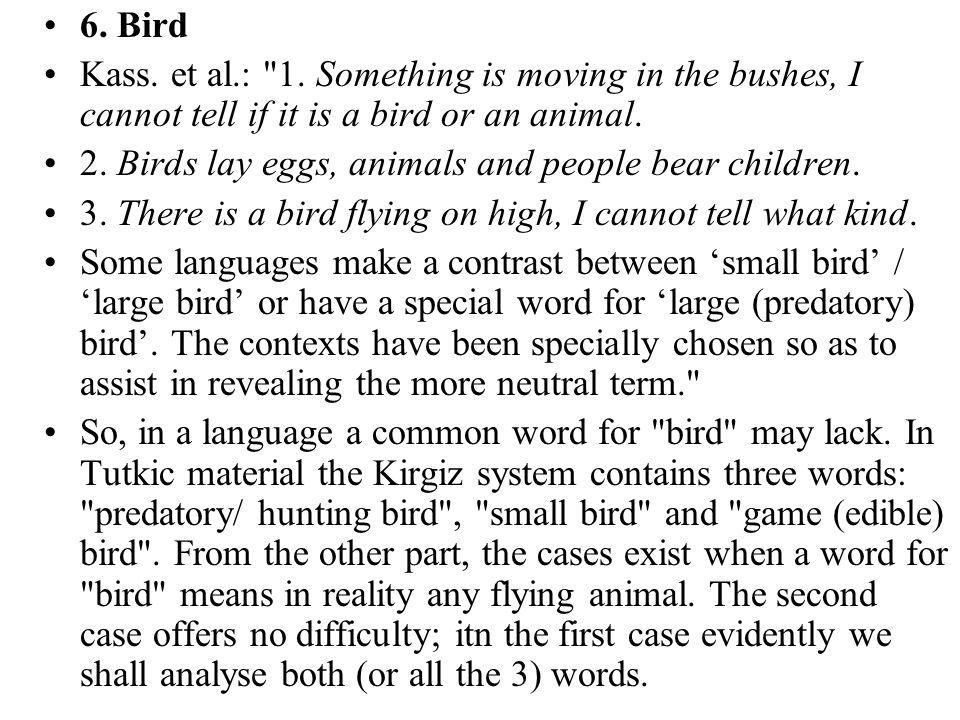 6. Bird Kass. et al.: 1.