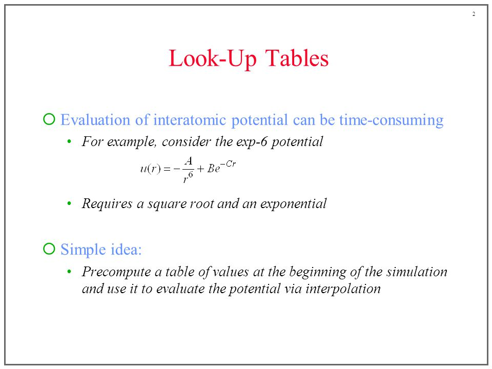 3 Interpolation Many interpolation schemes could be used e.g., Newton-Gregory forward difference method equally spaced values s of s = r 2 given u 1 = u(s 1 ), u 2 = u(s 2 ), etc.