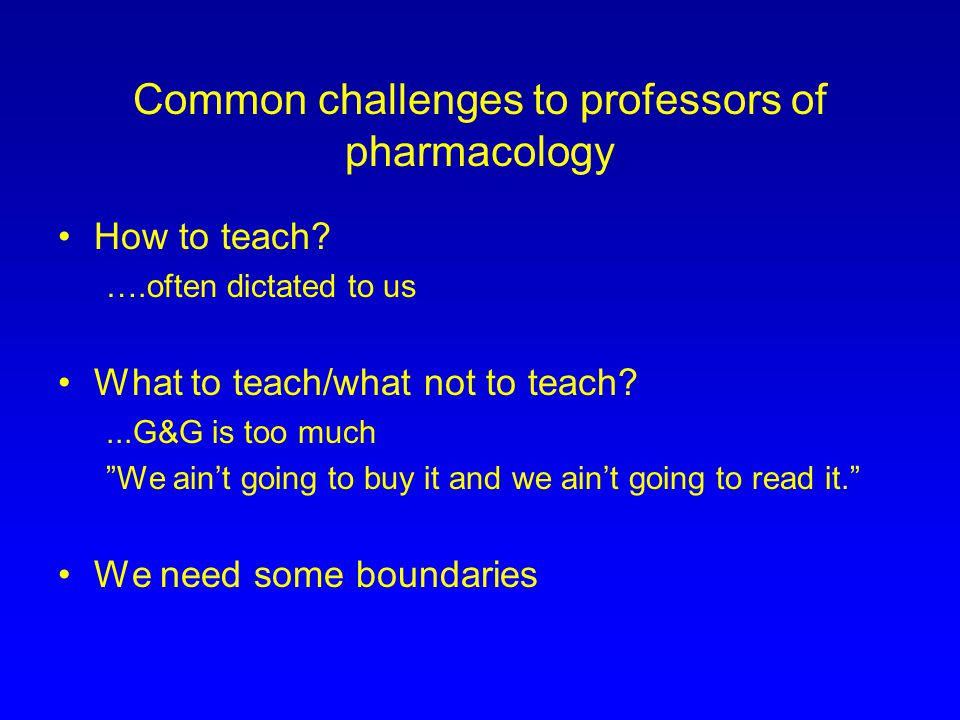 A small sample of the Association for Medical School Pharmacology (AMSP) Knowledge Objectives Drug List PRIMARY DRUGS and secondary drugs http://girch2.med.uth.tmc.edu/druglist/druglist.html