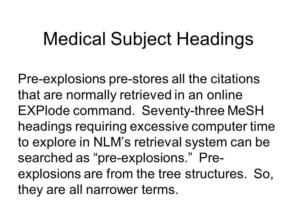 Medical Subject Headings 1.