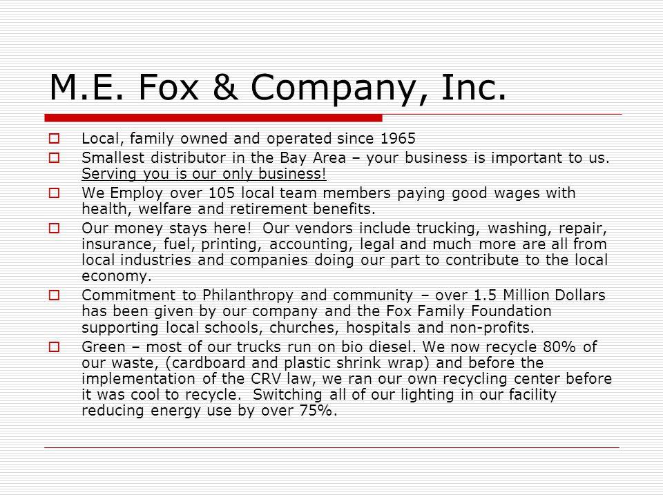 M.E. Fox & Company, Inc.