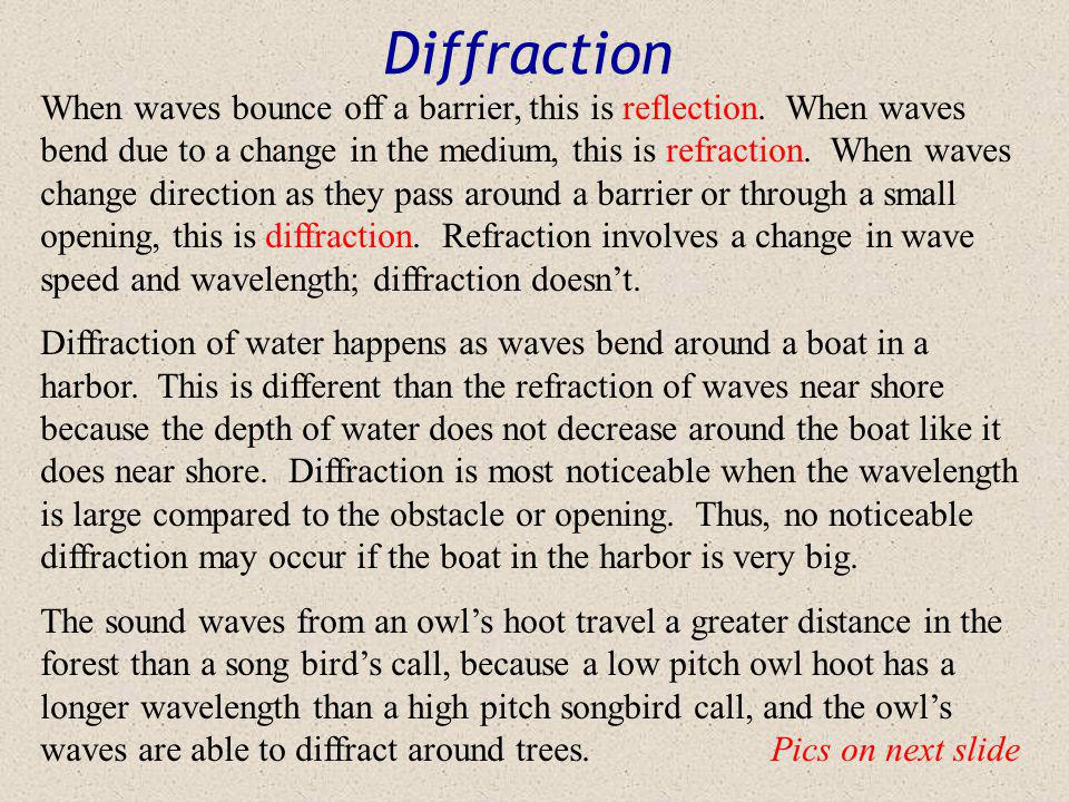 Interference Interference Animation Wave Interference Like force vectors, waves can work together or opposition. Sometimes they can even do some of bo