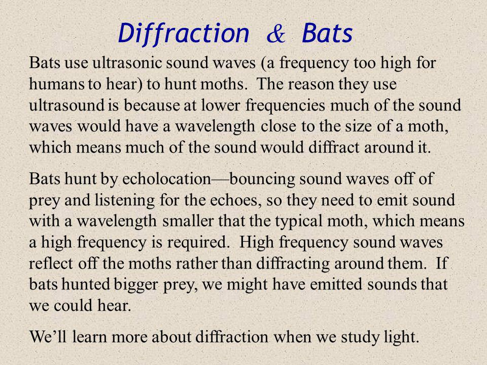 Diffraction Pics When waves pass a barrier they curve around it slightly. When they pass through a small opening, they spread out almost as if they ha